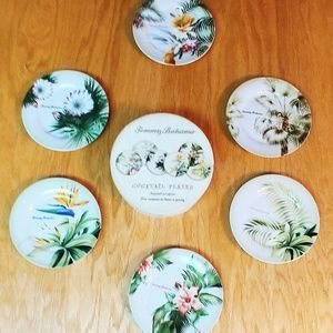 Tommy Bahama Cocktail Plate Set (6 plates)